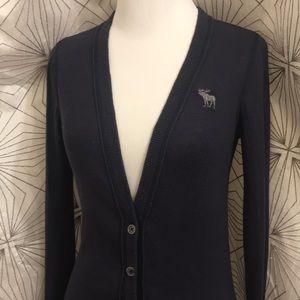 Abercrombie Dark Blue Button Up Cardigan